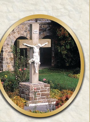Cross in Cloister of Carmelite Monastery